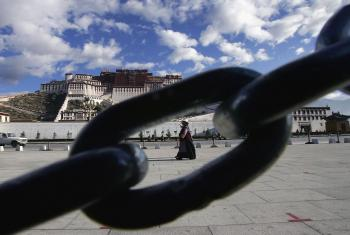 The Potala Palace Plaza in Lhasa of Tibet Autonomous Region, China as Tibetans fight to hold onto their cultural roots.  (China Photos/Getty Images)