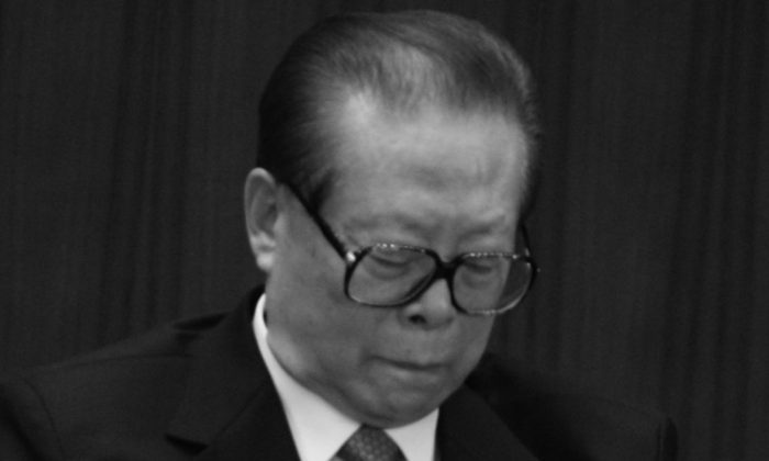 Former Chinese regime head Jiang Zemin attends the 18th Party Congress on Oct. 15, 2007, in Beijing, China. The leadership appointments that emerged from the congress seemed to favor Jiang, but Hu Jintao's complete retirement may finally force Jiang into the political shadows. (Feng Li/Getty Images)