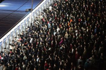 The Lunar New Year travel rush, the world's largest annual mass migration, strains the country's transport system to breaking point. (AFP/Getty Images)