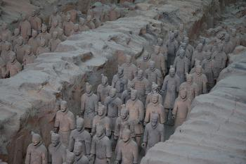 Terracotta Army Pit 1 - in Xi'an, China (Wikimedia Commons)