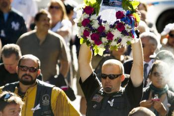 The 9th annual 9/11 commemoration at Zuccotti Park near Ground Zero on Sept. 11, 2010.   (Henry Lam/The Epoch Times)