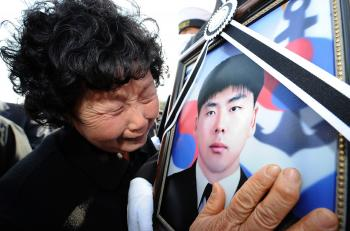 Funeral Held for Drowned South Korean Sailors