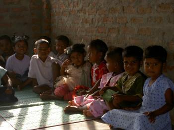 Children at AIM International Aid's Sahana Children's Village in Sri Lanka. Through AIM, voluntourists will have the opportunity to help build a medical/dental centre at the Children's Village. (AIM International Aid)