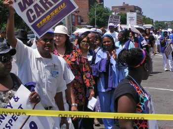 Brookdale Hospital Workers Protest Loss of Benefits