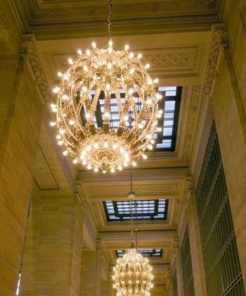 GRAND GOES GREEN: Grand Central Terminal has replaced the last incandescent light bulb in the elegant chandeliers in the terminal. GCT estimates it will save $200,000 a year in energy costs using highly efficient compact fluorescent bulbs. (Courtesy Grand Central Terminal)