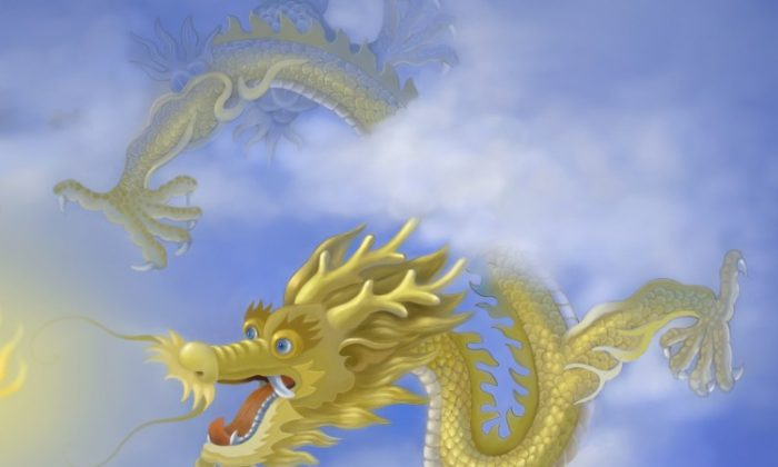 """""""Getting to the point"""" frees a dragon. (S. M Yang/The Epoch Times)"""
