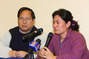 Wife of Chinese Rights Lawyer Appeals for Husband's Safety