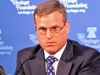 RELUCTANT: Dr. Patrick Cronin, senior advisor and senior director of the Asia-Pacific Security Program, Center for New American Security, expressed many doubts about providing humanitarian food assistance to North Koreans afflicted with malnutrition and lack of food, a situation that is expected to worsen. ( Gary Feuerberg/The Epoch Times)