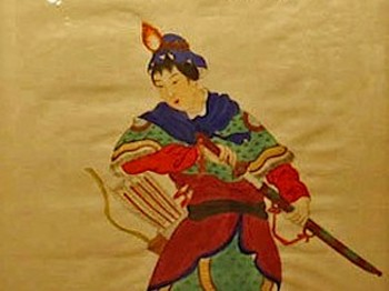 Hua Mulan goes to war, oil on silk. (Courtesy of Wikimedia Commons)