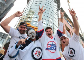 Fans of the Winnipeg Jets were a part of history in the making on Sunday. (Marianne Helm/Getty Images)