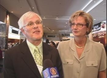 Mr. and Mrs. Brignall give their impressions of Shen Yun Performing Arts at Calgary's Jubilee Auditorium on Sunday afternoon. (NTDTV)
