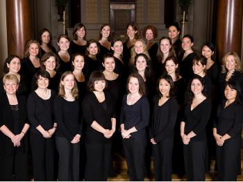 MELODIA CHOIR: Members of Melodia Women's Choir, May 2009, are with Cynthia Powell, Artistic Director and Jenny Clarke, Executive Director, front row left.   (Courtesy of Melodia Women's Choir and Orchestra)