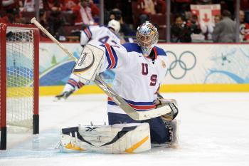 U.S. goalie Ryan Miller stole the show in a 5-3 win over Canada on Sunday. (Harry How/Getty Images)