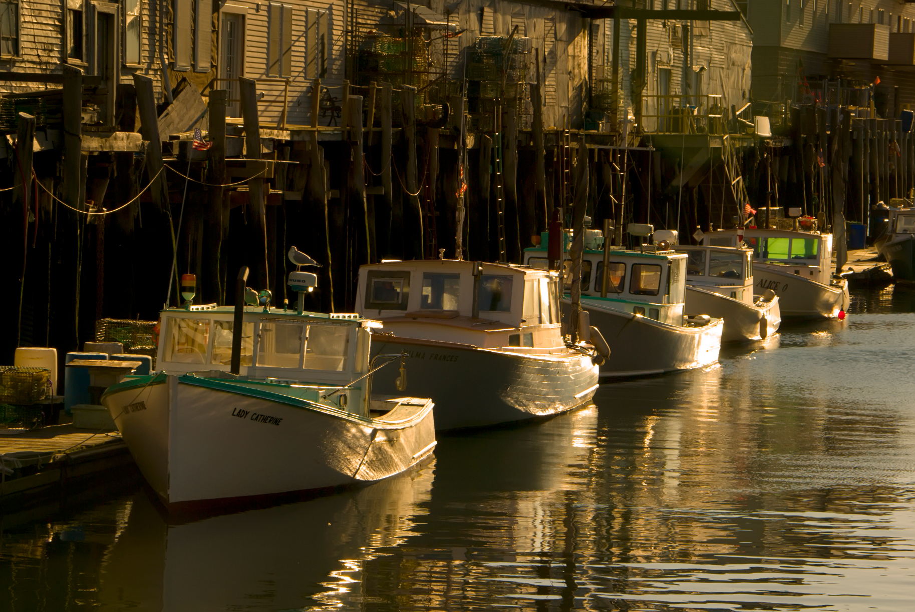 Lobster boats in Portland, Maine. (Maine Office of Tourism)