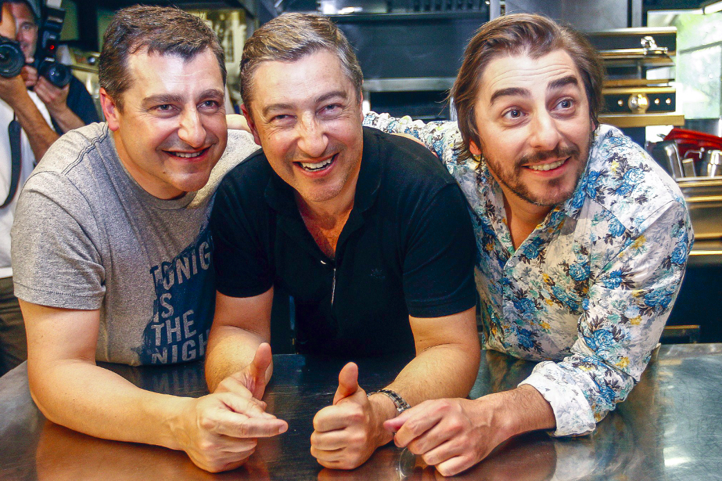 Spanish chefs of El Celler de Can Roca Joan Roca (C), Jordi Roca (R) and Josep Roca (L) pose at their restaurant in Girona on June 2, 2015. The restaurant was crowned the world's best restaurant on June 1. (QUIQUE GARCIA/AFP/GETTY IMAGES)