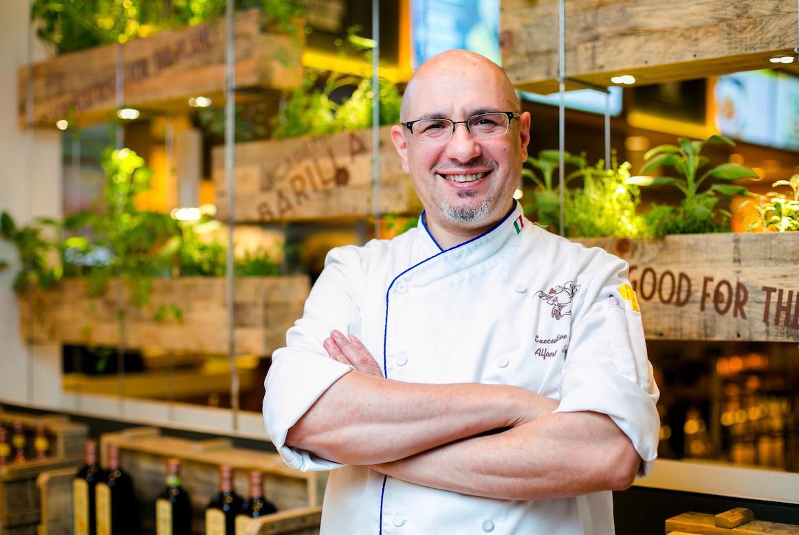 Alfonso Sanna, the executive chef of Barilla Restaurants. (Samira Bouaou/Epoch Times)