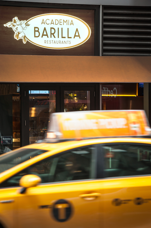 The Midtown location of Barilla Restaurants at Avenue of the Americas and 52nd Street. (Courtesy of Barilla Restaurants)