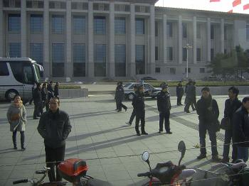 The highest level of security in Tiananmen Square (The Epoch Times)