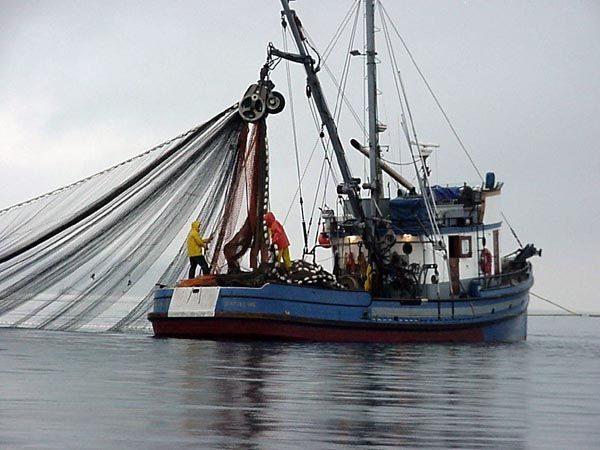 A commercial salmon fishing vessel in Alaska