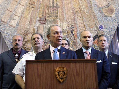 Mayor Bloomberg updates New Yorkers on the shooting of NYPD Officer Groves on July 5. (Spencer T Tucker)
