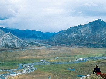 The Upper Sheenjek Valley of the Arctic National Wildlife Refuge August 30, 1999 in Alaska.   (Steven Chase/USFWS/ Getty Images)