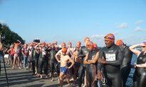 'Aquathlon' Contestants Swim the Hudson