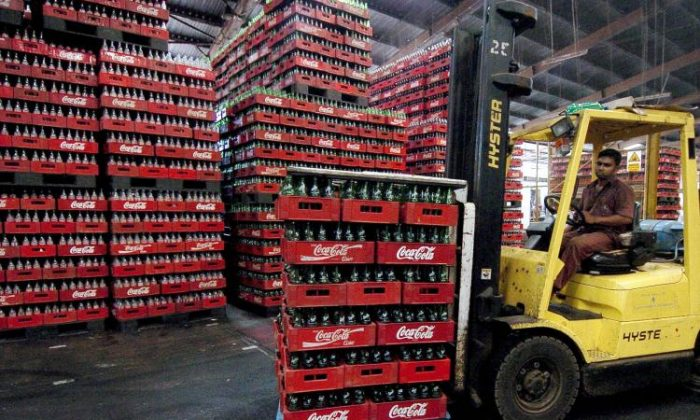 A Coca-Cola factory in Biyagama, Sri Lanka. A Chinese branch of Coca-Cola is facing claims that over 70,000 drinks contaminated by chlorine were released to the market.(Lakruwan Wanniarachchi/AFP/Getty Images)