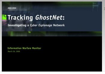GhostNet: Massive China-Based Internet Spy Network Unearthed