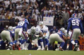 Giants Aim to Spoil Cowboys Stadium Grand Opening