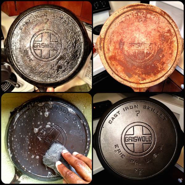 Restoring  rusty, old cast  iron into usable form is a  popular cast iron fanatic  pastime. (Courtesy of Jeffery B. Rogers 2011-2015 )