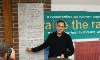 Living on Welfare Tests Politician's Endurance
