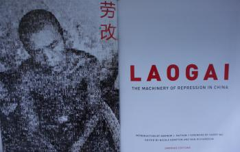 Image of the new book: Laogai: The machinery of repression in China, published by Umbrage. (Charlotte Cuthbertson/The Epoch Times)