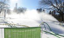 Snowmakers Blanket Central Park for Winter Jam