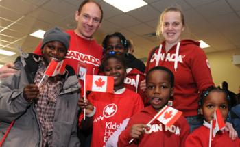 A third flight of Haitian children arrived at Ottawa International Airport on Jan. 30, 2010, part of the accelerated adoption operation to unite Canadian families with their Haitian adoptees who were already in the adoption process before the massive Jan. 12 earthquake struck the impoverished Caribbean nation.  (Photo courtesy of the Citizenship and Immigration Canada Web site)