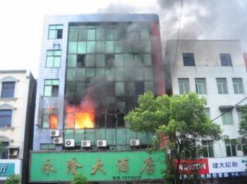 A scene in Shishou City on June 20.(bbs.163.com)