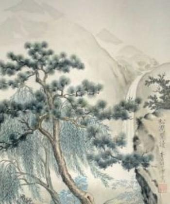 The Chinese sages taught honesty as a virtue by which rulers in China's ancient past were judged. Chinese-style landscape painting by Charlotte Kuehnert . (Reproduction - Nils Kuehnert)