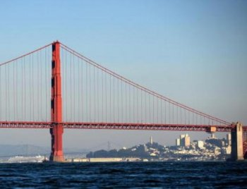 The Golden Gate Bridge in 2008. (Gabriel Bouys/AFP/Getty Images)