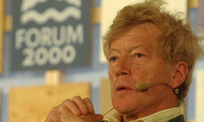 British philosopher, writer, and composer Roger Scruton attends a conference held under the auspices of former Czech president Vaclav Havel focusing on Media and Democracy, on Oct. 22, in Zofin Palace in Prague. (Michal Cizek/AFP/Getty Images)