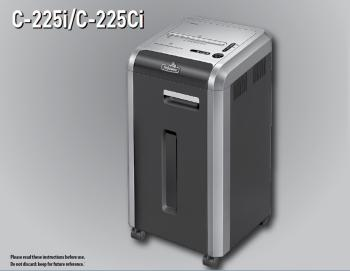 HARD TO COME BY: The 'C-225i 100% Jam Proof Strip-Cut Shredder,' which can handle CD-ROMS, credit cards, paperclips, and handfuls of paper at a time, is one of the items in 'limited supply' after the forced takeover in China. (Fellowes Inc.)