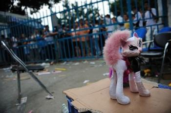 A toy factory in China closes down. (Getty Images)