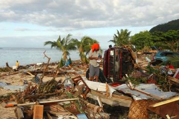 Aid Relief for Devastated Samoa