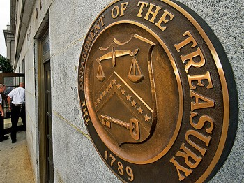 The U.S. Department of the Treasury building in Washington. The federal budget makes up 21.5 percent of GDP. (Chip Somodevilla/Getty Images)