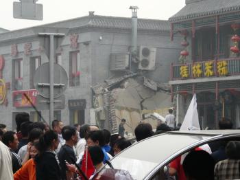 At the scene of the explosion. (internet photo)