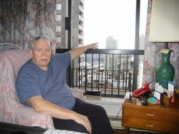 William Nunn says he saw a UFO move slowly across the sky from the window of his apartment in downtown Vancouver. In 2007, Canadians reported seeing a record number of unidentified flying objects.  (UFOBC)