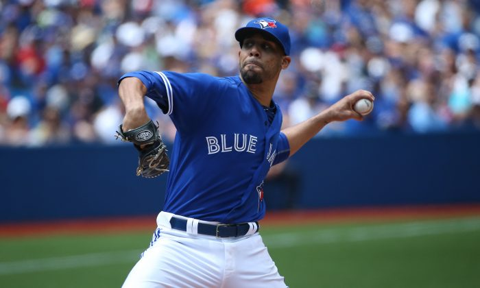 David Price struck out a Blue Jays season high 11 Minnesota Twins on August 3, 2015 at Rogers Centre in Toronto. (Tom Szczerbowski/Getty Images)