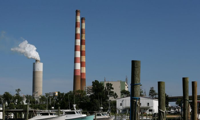 The coal-fired Morgantown Generating Station in Newburg, Maryland, in this file photo. The United States has decreased carbon emissions more than any other country over the last year but legislators keep talking about a carbon tax. (Mark Wilson/Getty Images)