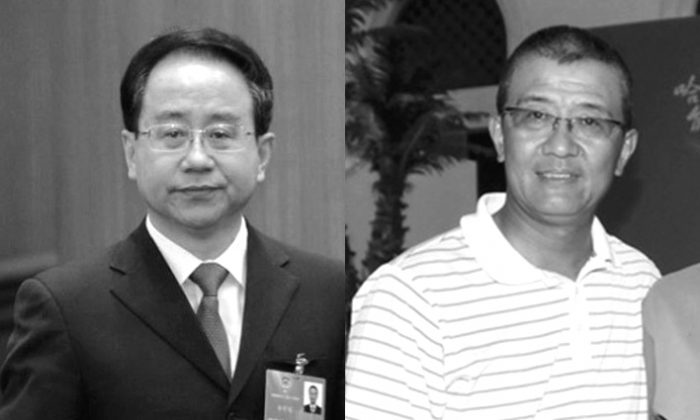(L-R) Ling Jihua, former head of the United Front Work Department, and his brother, Ling Wancheng, in undated photos. (Web photos)