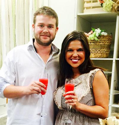 Amy Duggar and fiance Dillon King at her recent bridal shower at Dillard's in Fayeteville, Arkansas. (Amy Duggar)