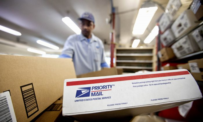 Packages in a Post Office in Atlanta on Feb. 7, 2013. (AP Photo/David Goldman)