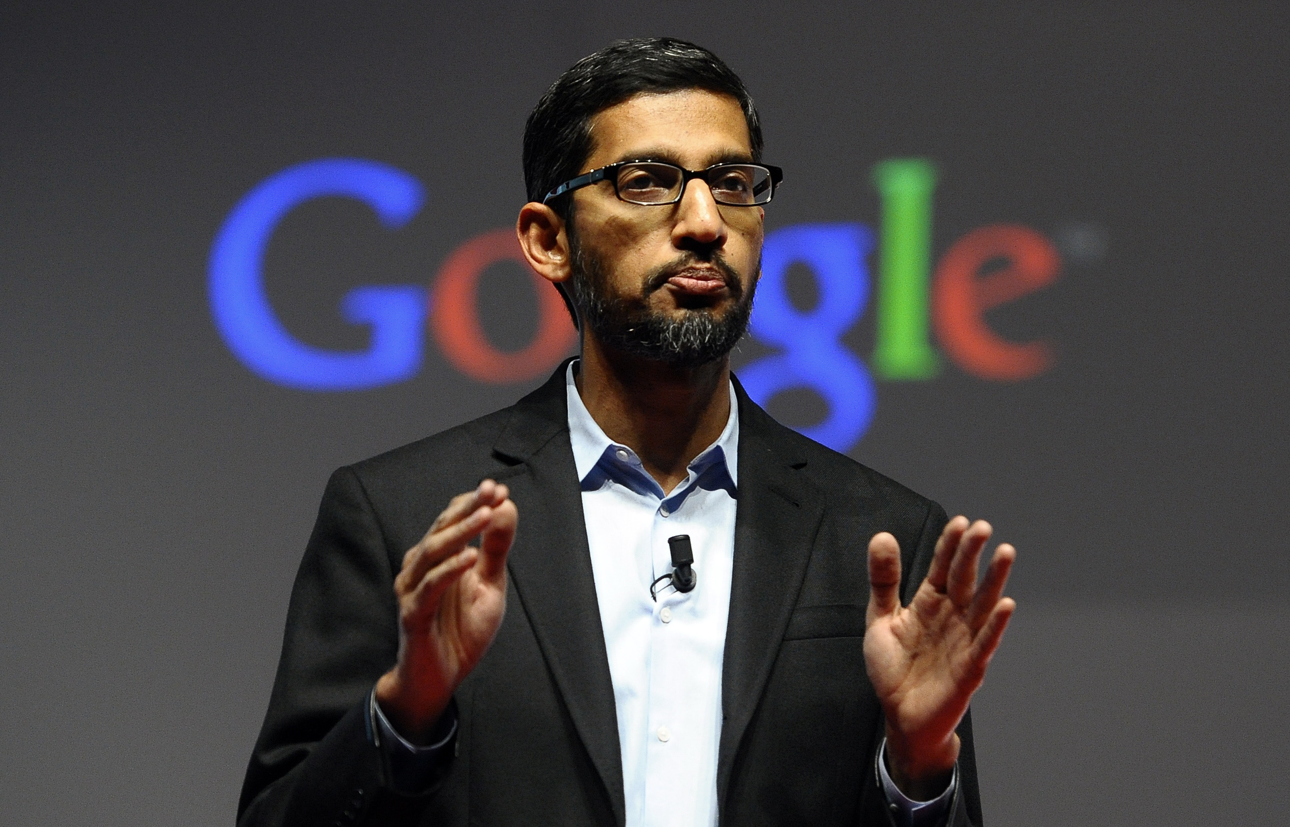 Sundar Pichai, senior vice president of Android, Chrome and Apps, at a conference during the Mobile World Congress, the world's largest mobile phone trade show in Barcelona, Spain, on March 2, 2015. Google is creating a new company, called Alphabet, to oversee its highly lucrative Internet business and a growing flock of other ventures, including some  like building self-driving cars and researching ways to prolong human life  that are known more for their ambition than for turning an immediate profit. Pichai will become CEO of Google's core business, including its search engine, online advertising operation and YouTube video service. (AP Photo/Manu Fernandez, File)